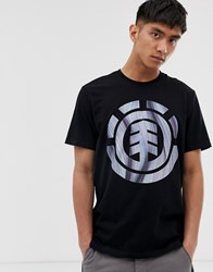 Element T Shirt With Twist Chest Logo In Black