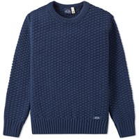 Bleu De Paname Textured Crew Knit Blue