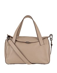 Lodis Oprah Leather Convertible Satchel Taupe