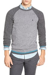 Men's Original Penguin Raglan Crewneck Sweater Griffin
