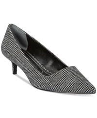 Charles By Charles David Drew Kitten Heel Pumps Women's Shoes Houndstooth