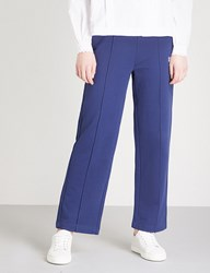 Moandco. Embroidered Jersey Jogging Bottoms Blue