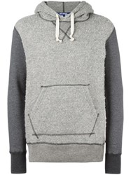 Junya Watanabe Comme Des Garcons Man Nepped Contrast Hoodie Grey