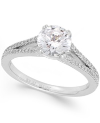 Macy's Idealmark Certified Diamond Split Band Engagement Ring In Platinum 1 3 4 Ct. T.W.
