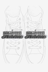 Topshop Ethnic Engraved Double Anklet Silver