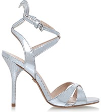 Kg By Kurt Geiger Jina Metallic Leather Courts Silver