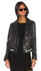 Lamarque Carina Leather Jacket In Black.