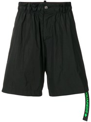Dsquared2 Flared Track Shorts Black