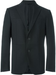 Christopher Kane Grid Panelled Blazer Black