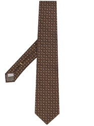 Canali Logo Tie Brown