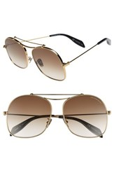 Alexander Mcqueen Women's 59Mm Aviator Sunglasses Gold