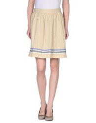 Ottod'ame Knee Length Skirts Beige