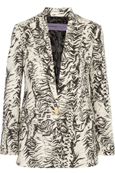 Ungaro Animal Print Wool Blend Blazer