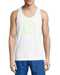 Original Penguin Circle Logo Cotton Tank Bright White