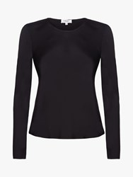 Ghost Alix Fitted Satin Top Black