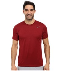 Nike Legend 2.0 Short Sleeve Tee Team Red Black Matte Silver Men's T Shirt
