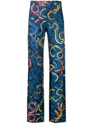 F.R.S For Restless Sleepers Floral Print Trousers Blue