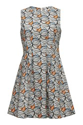 Almost Famous Leaf Print Shift Dress White