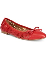 Rialto Sofie Perforated Ballet Flats Women's Shoes Red