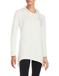 Marc New York Knit Cowlneck Performance Tunic Ivory
