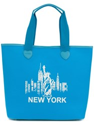Twin Set New York Tote Bag Blue