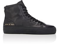 Common Projects Women's Tournament High Top Sneakers Black