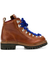 Dsquared2 Lug Sole Hiking Boots Brown