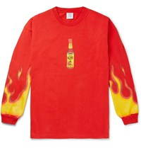 Vetements Oversized Printed Cotton Jersey T Shirt Red