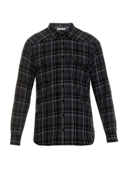 Off White Checked Cotton Shirt