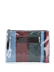 Marni Striped Logo Clutch Bag 60