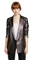 Paul Smith Metallic Blazer Silver