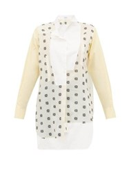 Loewe Anagram Broderie Anglaise Cotton Shirt White Multi