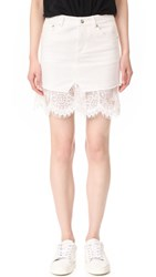 Mcq By Alexander Mcqueen Short Hybrid Lace Skirt Ivory