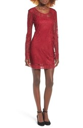 Band Of Gypsies Women's Lace Shift Dress Chili Pepper Red