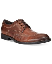 Johnston And Murphy Men's Selby Wingtip Oxfords Men's Shoes Tan