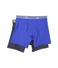 Adidas Relaxed Performance Climalite 2 Pack Boxer Brief Bold Blue Urban Sky Men's Underwear