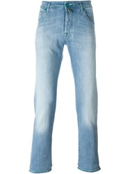 Jacob Cohen Hard Stonewash Effect Slim Fit Jeans Blue