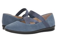 Hush Puppies Meree Madrine Vintage Indigo Nubuck Flat Shoes Blue