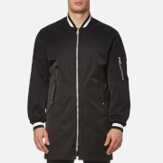 Kenzo Men's Tech Cotton Long Line Bomber Jacket Black