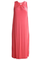 Zizzi Maxi Dress Deep Sea Coral Pink
