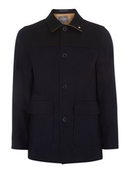 Peter Werth Bauhaus Colour Blocked Donkey Jacket Navy
