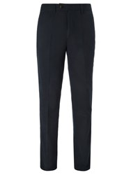 John Lewis Wrinkle Free Flat Front Trousers Navy