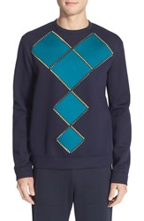 Versace Men's Geometric Studded Sweatshirt Grey