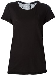 Moncler Perforated Back T Shirt Black