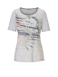 Betty Barclay Embellished Print T Shirt Blue