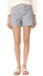 Madewell Lace Up Shorts Nostalgia Blue