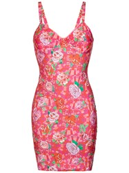 Amir Slama Floral Print Fitted Dress Unavailable
