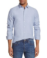 Bloomingdale's The Men's Store At Dotted Regular Fit Button Down Shirt Dusty Blue