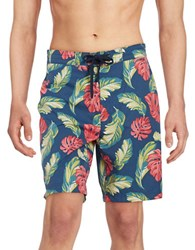 Brooks Brothers Tropical Board Shorts Blue