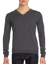 Saks Fifth Avenue Merino Wool Long Sleeve Pullover Grey
